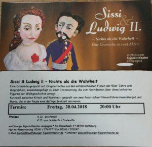 """Spontigruppe besucht das Figurentheater Wolfsburg zur Vorstellung """"Sissi & Ludwig II -Nichts als die Wahrheit @ Wolfsburger Figurentheater Compagnie"""